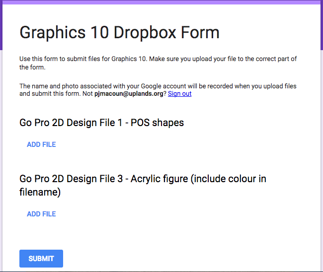 The best thing about Google Form uploads – Transition Zone